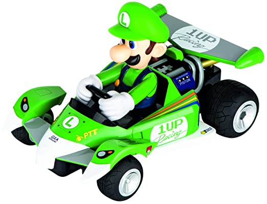Amazon.com: Carrera RC 200991 Official Licensed Mario Kart Luigi Circuit Special 1:18 Scale 2.4 GHZ Remote Control Car with Rechargeable LifePO4 Battery ...