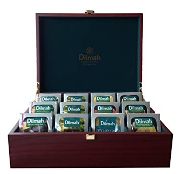 amazon com dilmah luxury wooden presenter tea display chest