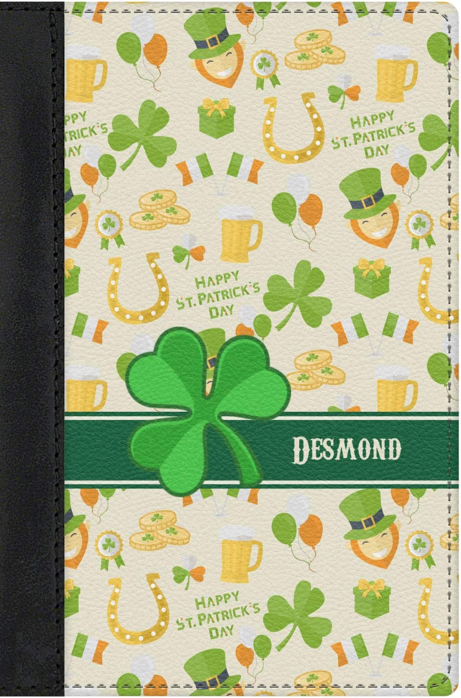 St Patricks Day Genuine Leather Passport Cover Personalized