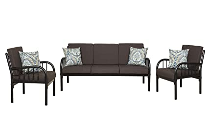 5285506550c FurnitureKraft Clayton 3-1-1 Sofa Set with Mattress (Glossy Finish ...