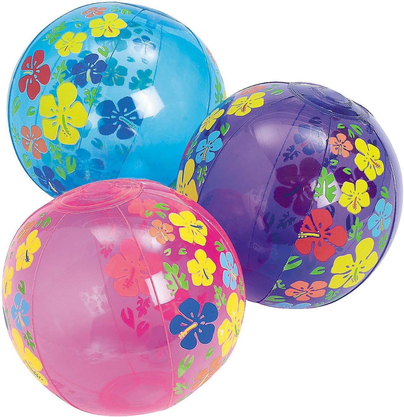 Inflates 12 Pieces Mini Beach Balls Fun Express - Toys 5 Inflate Beach Balls
