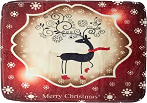 Colorful House Christmas Home Decorationative Doormat, Festival Indoor Outdoors Mats(15.7x23.6 in, Christmas-Reindeer)