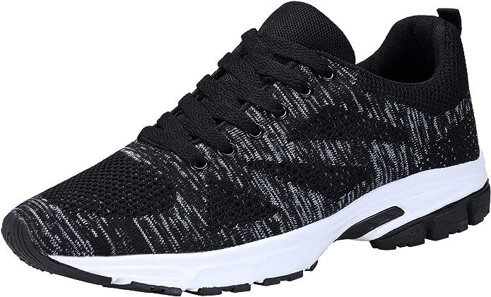 KOUDYEN Unisex Zapatillas Deporte Hombres Mujer Zapatillas Running Sneaker Zapatos para Correr,fz888-black-EU39: Amazon.es: Zapatos y complementos