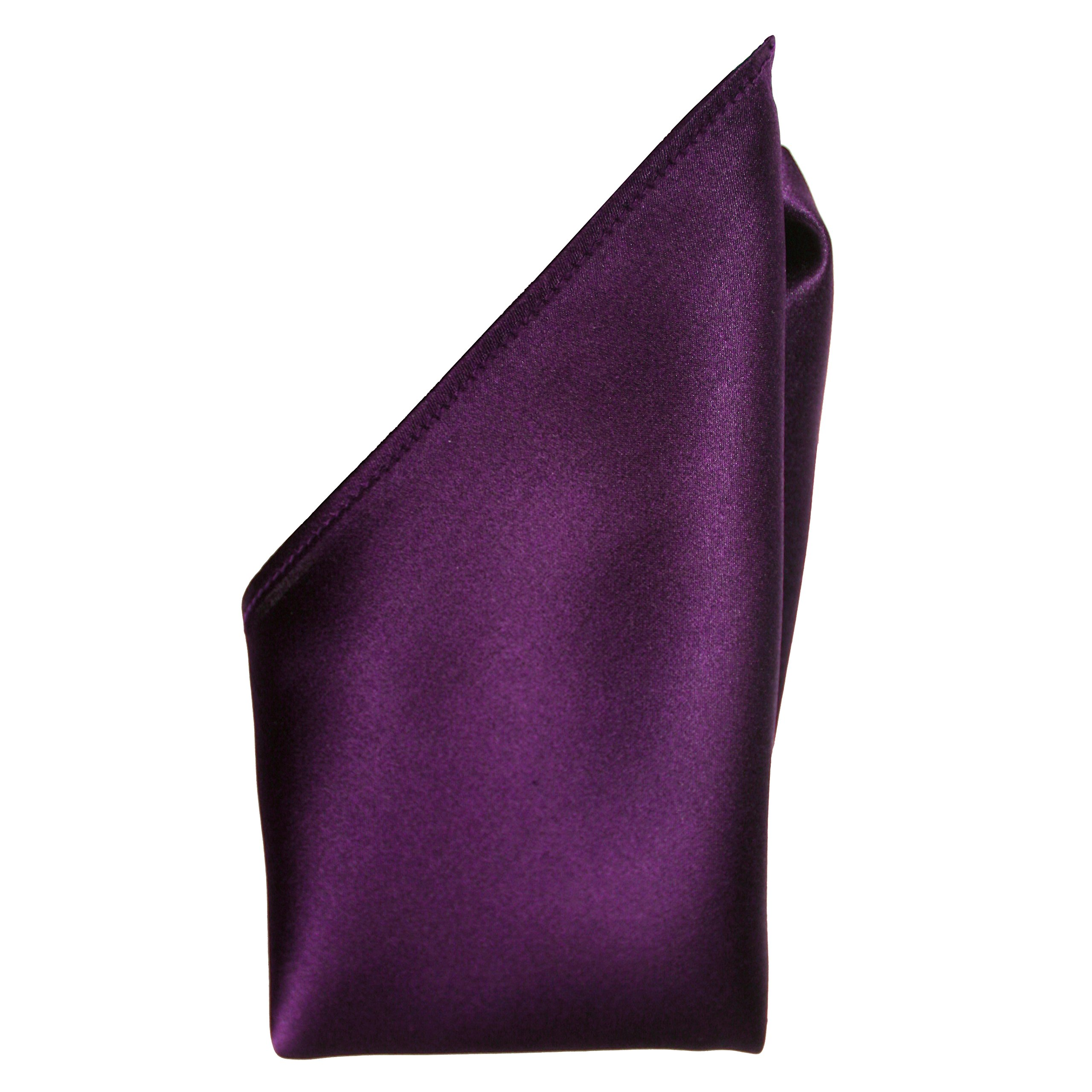 Aubergine Silk Satin Pocket Square 16'' by Royal Silk