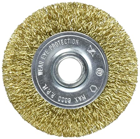 Vermont American 16795 3-Inch Course Brass Wire Wheel Brush with 1/4-