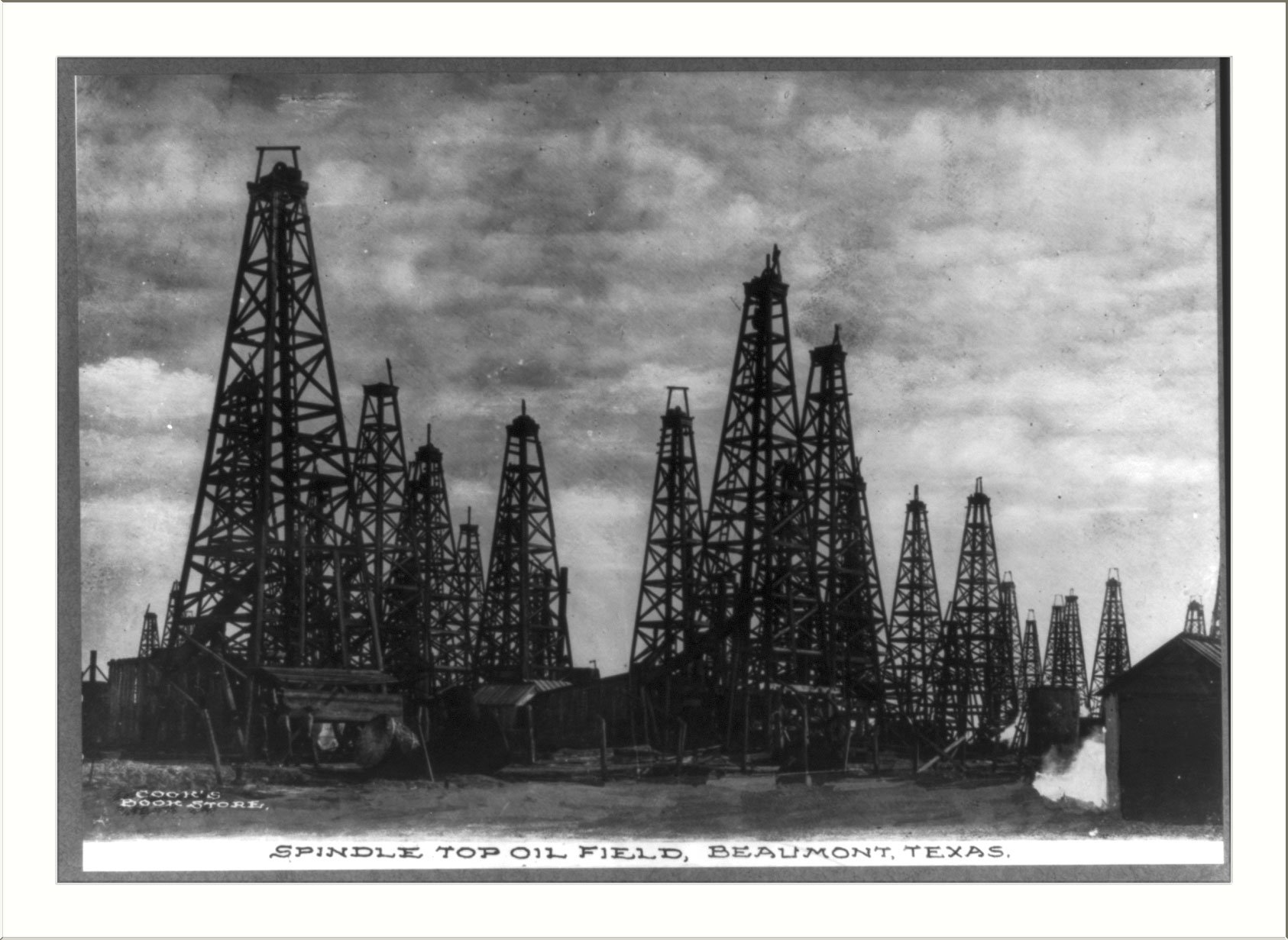 historic print l texas beaumont spindle top oil field