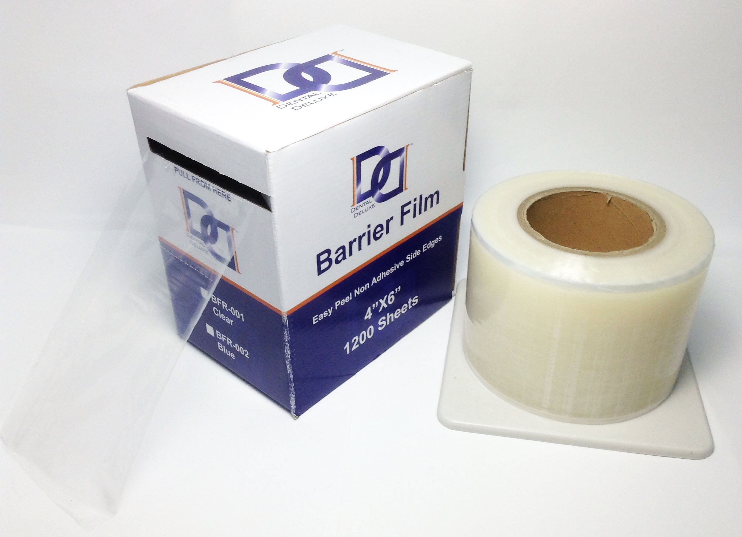 Barrier Film 1200 Sheets 4'' x 6'' Per Box (Pack of 12 Boxes) Dental Deluxe