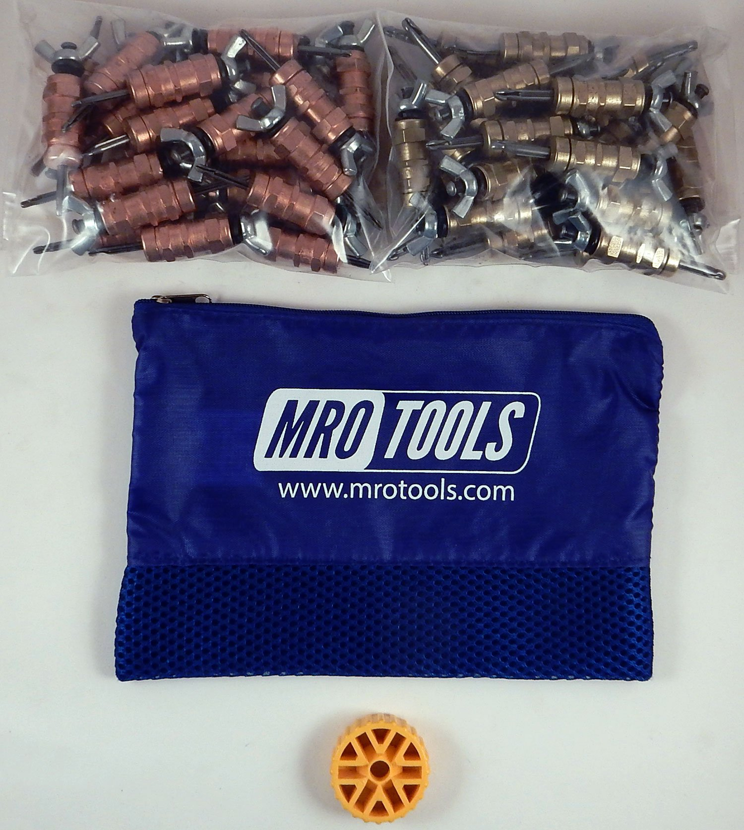 25 1/8 & 25 3/16 Standard Wing-Nut Cleco Fasteners w HBHT Tool & Bag (KWN4S50-1) by MRO Tools Cleco Fasteners