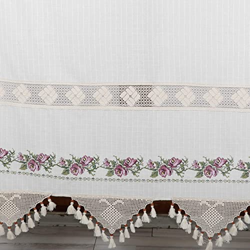 Amazon.com: Embroidery Curtains Purple Curtains Lace ...