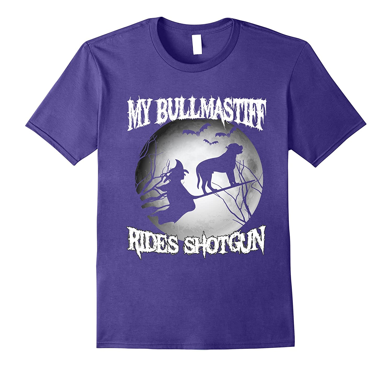 My bullmastiff Rides Shotgun Halloween shirt-TJ