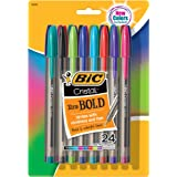 BIC MSBAPP241-A-AST Cristal Xtra Bold Fashion Ballpoint Pen, Bold Point (1.6mm), Assorted Colors, 24-Count