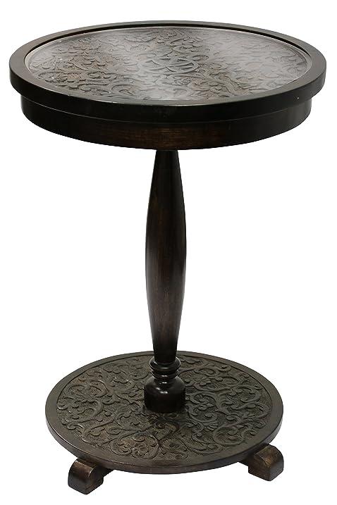 amazon com stylecraft isf24509 round pedestal table solid mango