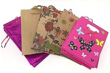 24 bolsas de regalo de varios colores con asas de cordón a ...