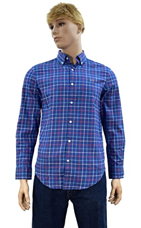 02e7c9da6 Vineyard Vines Men's Long Sleeve Button Down Whale Shirt Oxford (Flannel  Jade Cove Check/