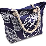 Beach Bag With Inner Zipper Pocket from Moskus Gear - Tote Bag with Rope Handles