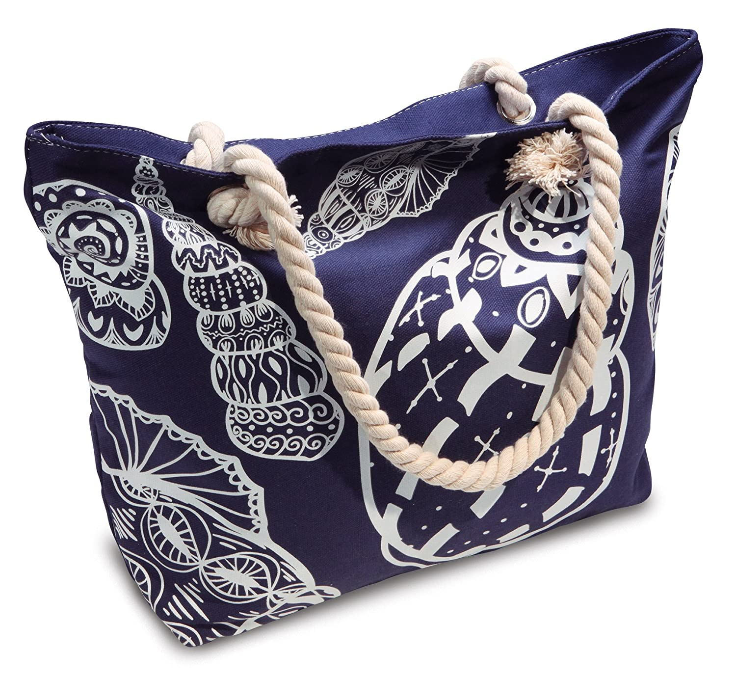 Amazon.com: Beach Bag With Inner Zipper Pocket from Moskus Gear ...