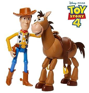 Mattel- Disney Toy Story 4 4-Pack de Aventuras de Woody y Perdigón, Juguetes niños +3 años, Multicolor GDB91
