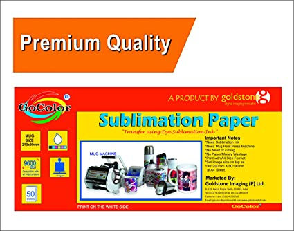 gocolor Dye Sublimation Paper 110 GSM Only for Mug Printing