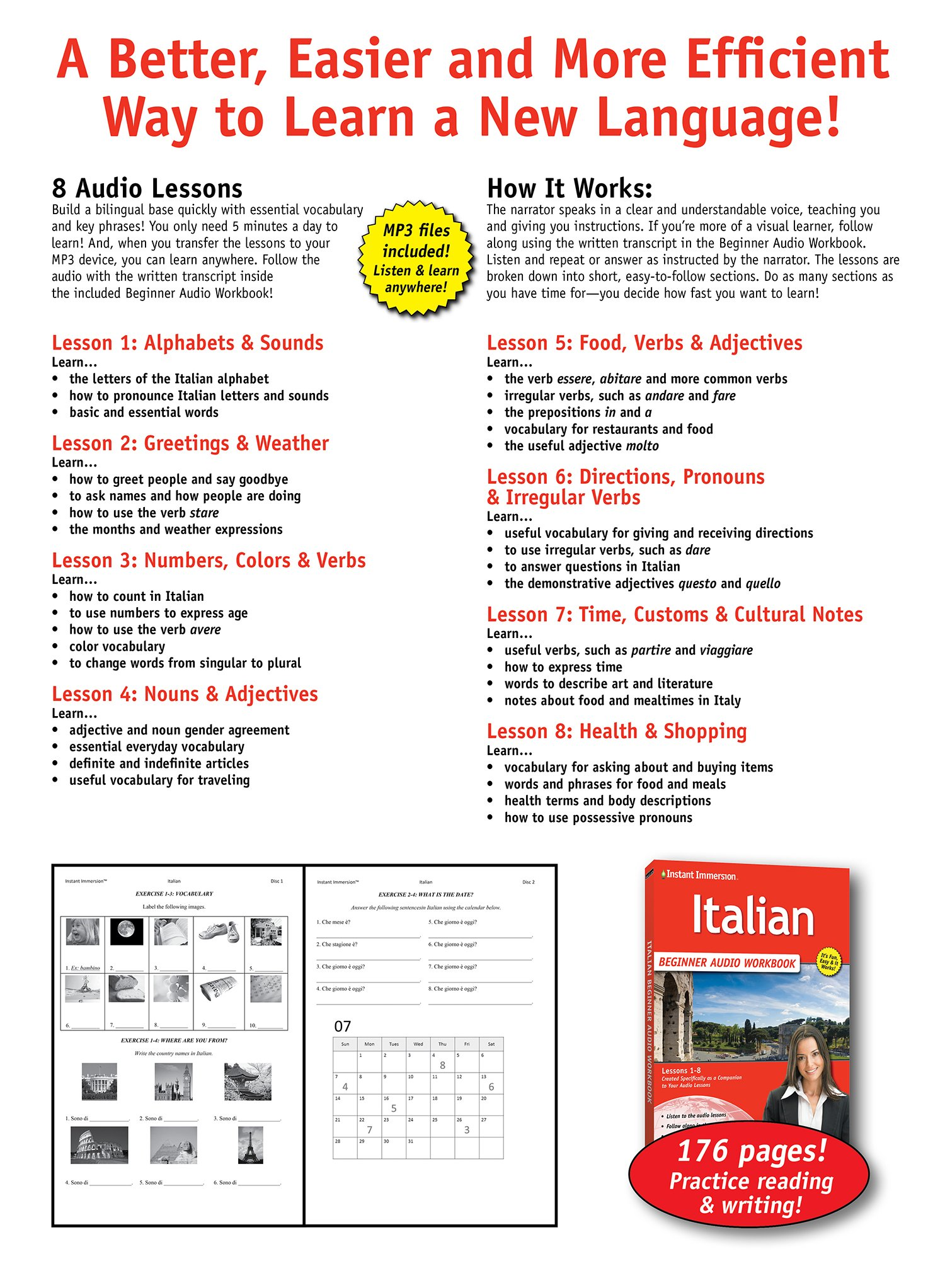 Learn italian beginner audio language course by instant immersion learn italian beginner audio language course by instant immersion 2016 version italian and english edition instant immersion 9781618945440 kristyandbryce Images