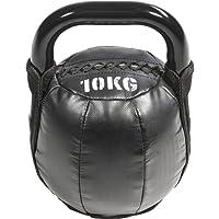 GORILLA SPORTS® Kettlebell Leder 4-10 kg – Kugelhantel Soft in 4 Gewichtsvarianten