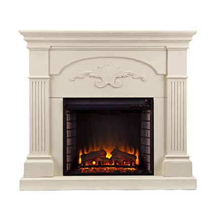 Sicilian Harvest Electric Fireplace   Ivory