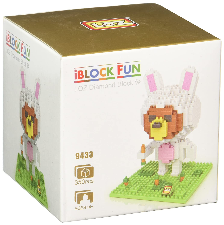 Little Treasures Loz diamond blocks brown bear Jual rilakkuma halaman I-block fun compatible to Nanoblocks gift childrens educational 350 pc in original box