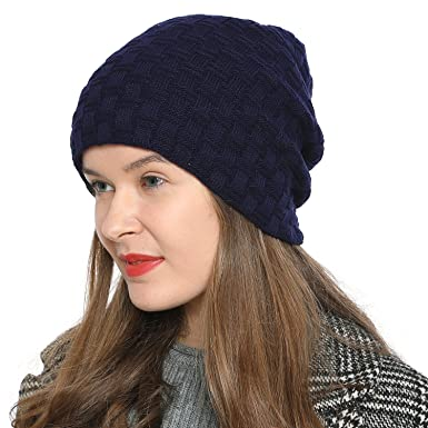 DonDon Bonnet d hiver Beanie Slouch Style pour Dames Femme avec Doublure très  Douce et 0207b3040d4