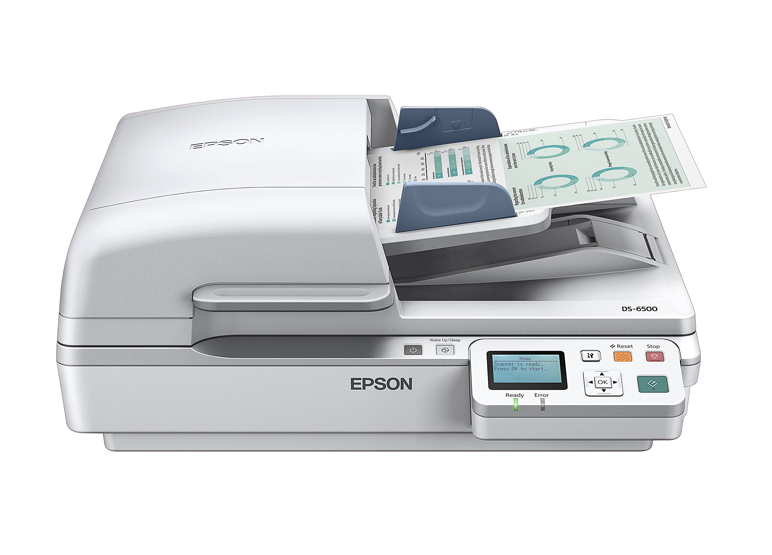 Epson DS-6500 Document Scanner:  25ppm, TWAIN & ISIS Drivers, 3-Year Warranty with Next Business Day Replacement