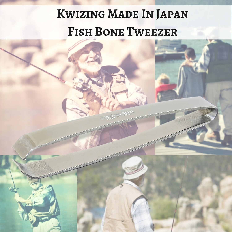 Debone Salmon - Non-Slip 2-Pack Catfish 4 3//4 Bass Kwizing Made in Japan Fish Bone Tweezers Precision Grip Stainless Steel Handmade Japanese Craftsmanship