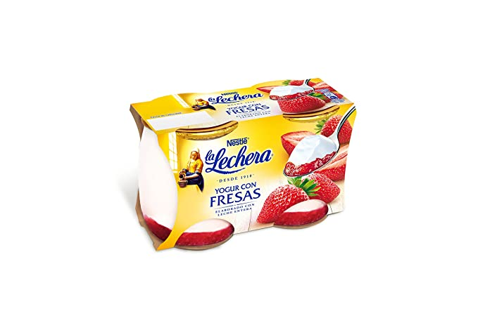 La Lechera, Yogur natural (Mermelada, Fresa) - 2 de 125 gr.