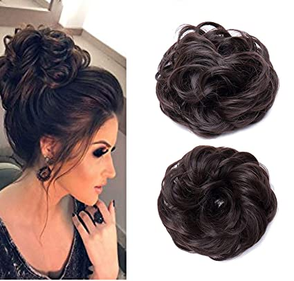 Pelo Juda Frill For Hair Styles Hair Frill Extensions For Girls And Women Brown Set Of 2 20 Gram Pack Of 1