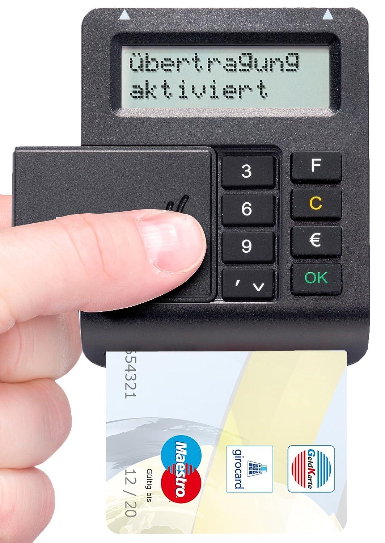 TAN /& ATC Anzeige REINER SCT tanJack optic CX Online Banking TAN Generator f/ür ChipTAN Sm@rt TAN Plus Schwarz