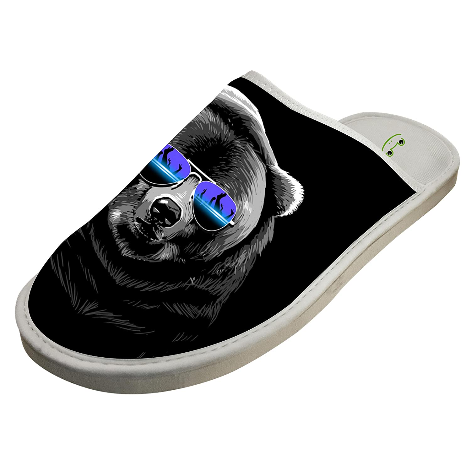 Jane-LEE DJ Bear Music House Slippers//Cotton Slippers//Flat Shoes//Indoor Slippers