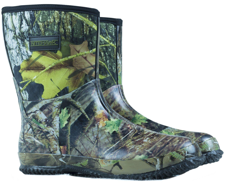 Nitehawk Bottes de pluie en néoprène - mi-hautes - pour la pêche la chasse  - camouflage  Amazon.fr  Sports et Loisirs 33ee7a3b76ff