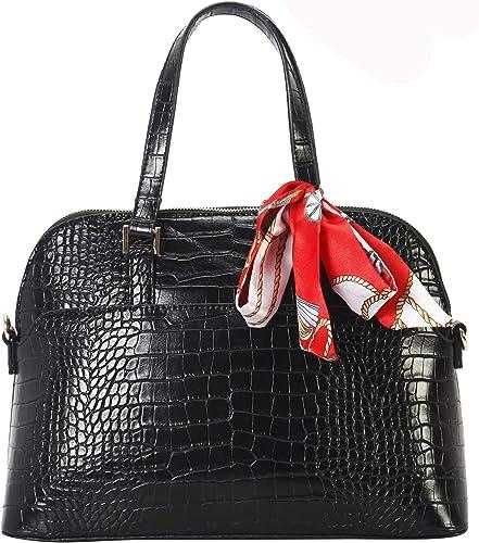 Diophy PU Leather Drawstring Design Large Tote Womens Purse Handbag OS-6014