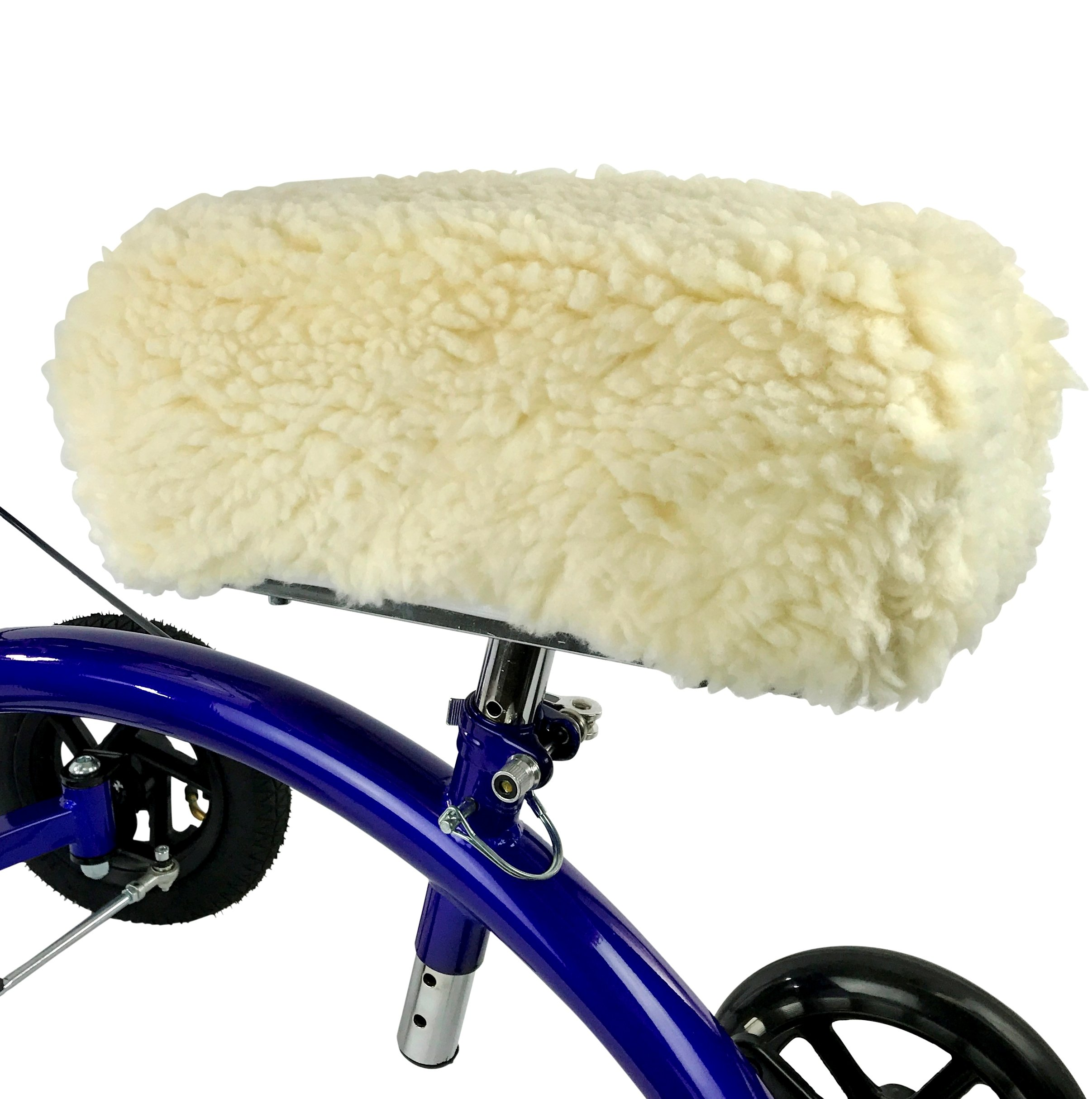 KneeRover Deluxe Synthetic Sheepskin Knee Walker Kneepad Cover with Thick Comfortable Padding by KneeRover