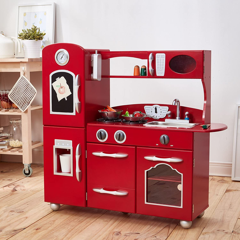 Amazoncom My Little Chef Teamson Kids Wooden Play Kitchen Set (