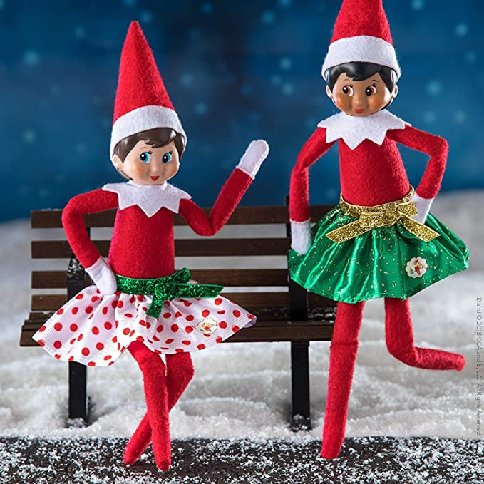 Christmas Elf On The Shelf Images.The Elf On The Shelf Girl Elf Edition With North Pole Blue Eyed Girl Elf Bonus Pair Of Party Skirts And Girl Character Themed Storybook