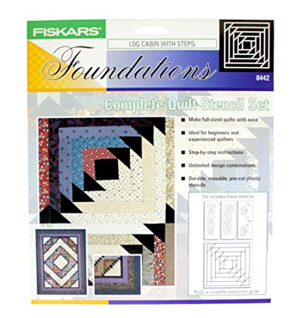 log cabin with steps fiskars foundations complete quilt stencil set no 8442 precut