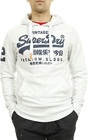 Sweat Shirt Superdry Premium Goods Lite Gris Chine Homme