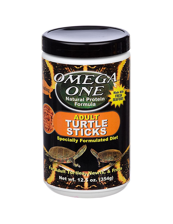 OmegaSea Food OS Floating Adult Turtle Sticks 12.5 oz, 1 Can, Small Burgham Sales Ltd. 03514