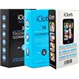 iCloth All Size Combo Cleaning Wipe Pack | 30 Lens and Screen - 24 Large Screen - 10 XL Screen and Mulit-Surface For use in LCD LED OLED TV screens, Smartphones, Windows, Windscreen and Others