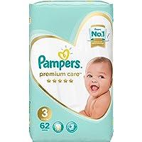 Pampers Premium Care Diapers, Size 3, Midi, 6-10 kg, Mega Pack, 62 Count