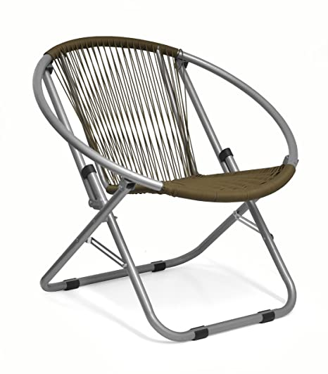 Superbe Urban Shop Outdoor Wicker Saucer Chair, Brown