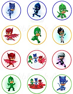 PJ Mask Edible Cupcake Toppers (12 Images) Cake Image Icing Sugar Sheet Edible Cake