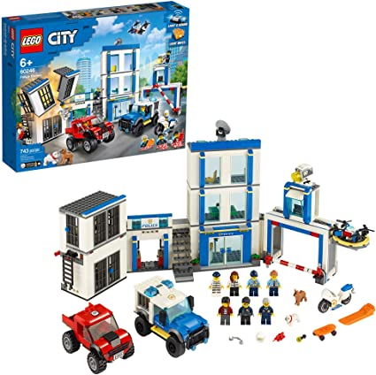 Lego ® City//Police Figure with Office Desk