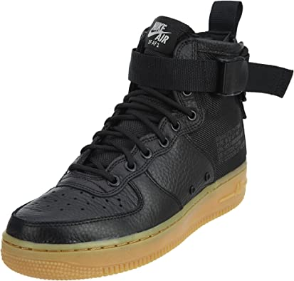 Nike SF Air Force 1 MID Womens Shoes BlackBlackGum Light Brown aa3966 002 (11 B(M) US)