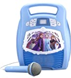 Frozen 2 Bluetooth Portable MP3 Karaoke Machine Player with Light Show Store Hours of Music with Built in Memory Sing…