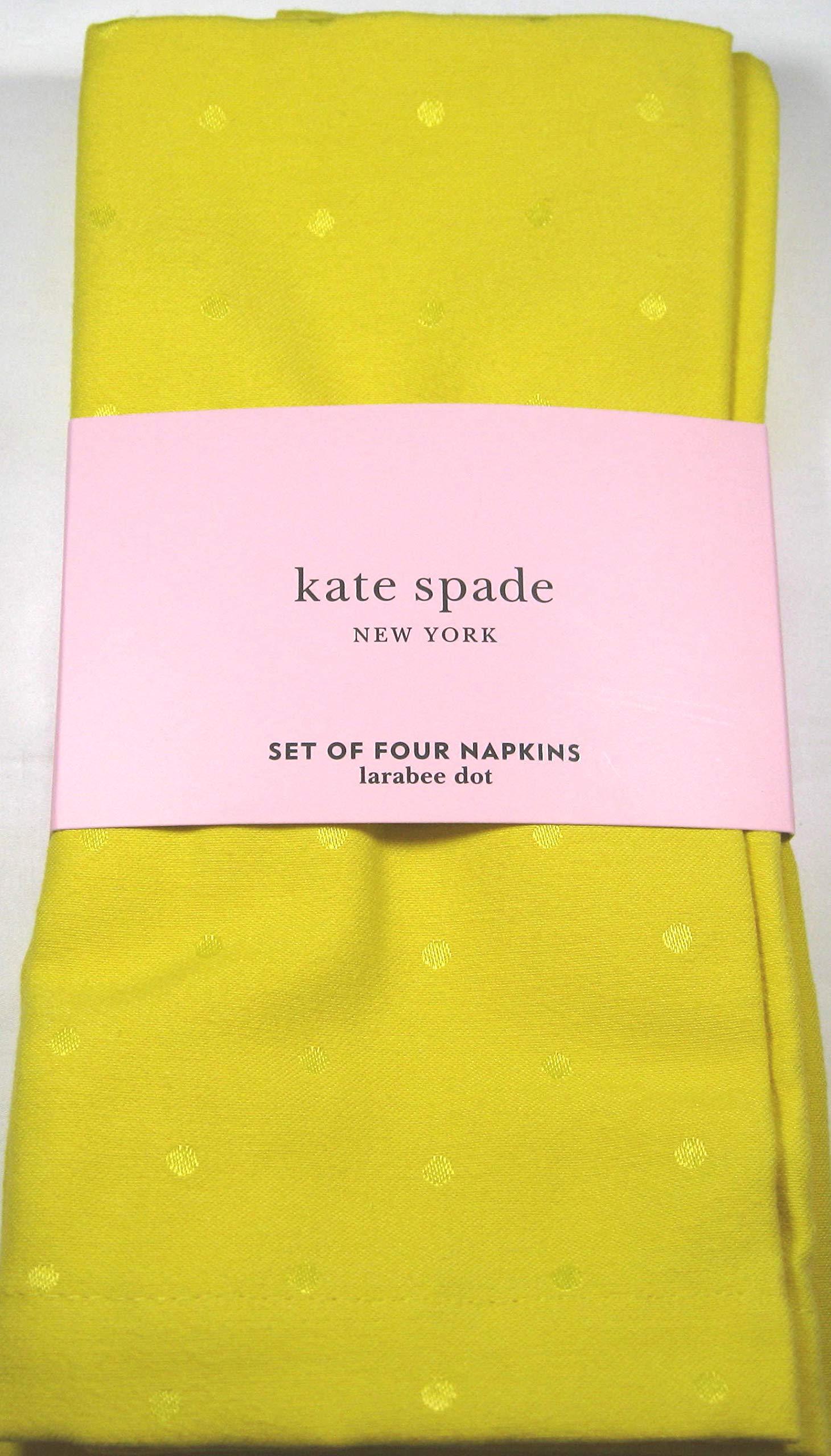 Kate Spade Larabee Dot Napkins Daffodil Yellow Easy Care 20'' x 20'' 4 Pk.