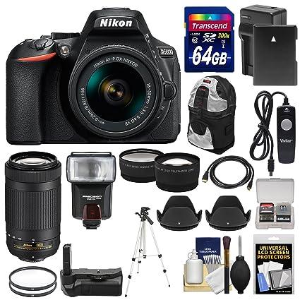 Amazon.com: Nikon d5600 Wi-Fi Cámara réflex digital con 18 ...